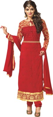 7064dec91b Reya Georgette Embroidered Semi-stitched Salwar Suit Dupatta ...