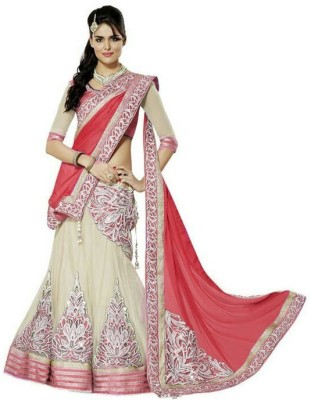 Egaleyes Embroidered Lehenga Choli(Red)