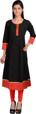 Sale Mantra Women Solid A-line Kurta(Red, Black)