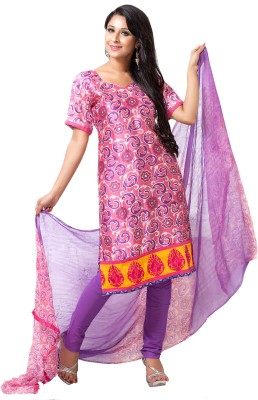 Aapno Rajasthan Silk Printed Salwar Suit Dupatta Material(Un-stitched)  available at flipkart for Rs.2895