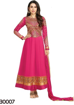 00c8c55a09 17% OFF on Shoppie Zone Georgette Embroidered Semi-stitched Salwar Suit  Dupatta Material on Flipkart | PaisaWapas.com