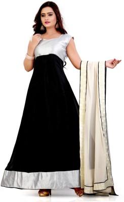 7f43f3ed92 66% OFF on Party Wear Dresses Georgette Embroidered Semi-stitched Salwar  Suit Dupatta Material on Flipkart | PaisaWapas.com