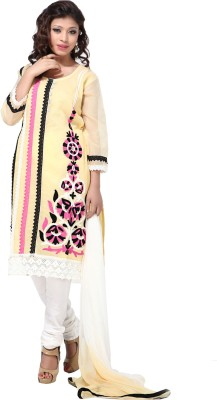 Aapno Rajasthan Cotton Printed Semi-stitched Salwar Suit Dupatta Material  available at flipkart for Rs.2699