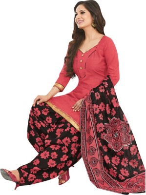 Jevi Prints Cotton Printed Salwar Suit Dupatta Material(Un-stitched)