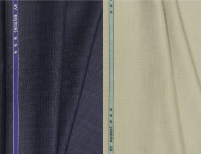 Raymond Cotton Polyester Blend Self Design Trouser Fabric(Unstitched)