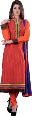 Vastrani Cotton Blend Embroidered Kurta Fabric(Unstitched) at flipkart