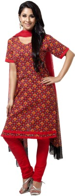 Aapno Rajasthan Cotton Printed Salwar Suit Dupatta Material(Un-stitched)  available at flipkart for Rs.1745