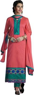 Saree Exotica Cotton Embroidered Salwar Suit Dupatta Material(Un-stitched) Flipkart