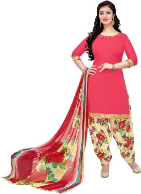 baec0e4b01 73% OFF on Giftsnfriends Cotton Printed Salwar Suit Dupatta Material, Kurta  & Churidar Material(Un-stitched) on Flipkart | PaisaWapas.com