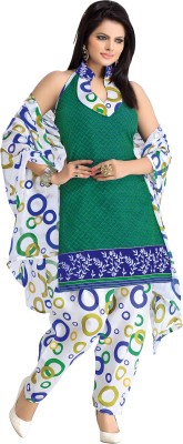 BanoRani Cotton Printed Salwar Suit Dupatta Material(Un-stitched)  available at flipkart for Rs.1198