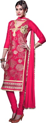 Saree Exotica Cotton Embroidered Salwar Suit Material(Un-stitched) Flipkart