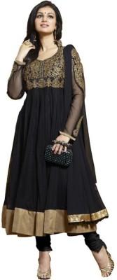 Kamela Saree Net Embroidered Salwar Suit Dupatta Material(Un-stitched)