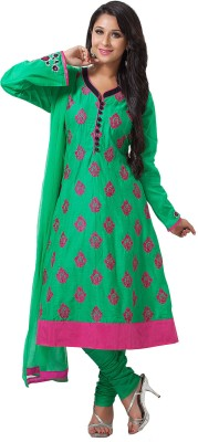 Aapno Rajasthan Cotton Printed Semi-stitched Salwar Suit Dupatta Material  available at flipkart for Rs.3799
