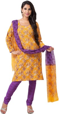 Aapno Rajasthan Cotton Floral Print Salwar Suit Dupatta Material(Un-stitched)  available at flipkart for Rs.1745