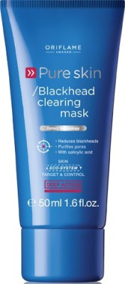 Oriflame Sweden Pure Skin Blackhead Clearing Mask(50 ml)  available at flipkart for Rs.349