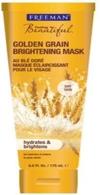 Freeman Feeling Beautiful Brightening Mask, Golden Grain 6 oz (Pack of 2) Cest Moi Gentle Makeup Remover Cleansing Wipes