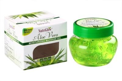 NutriGlow Aloe Vera Moisturising Massage Gel with Tea Tree Oil(500 g)  available at flipkart for Rs.299