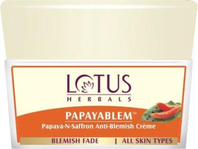 LOTUS HERBALS Papayablem Papaya-N-Saffron Anti-Blemish Creme(50 g)
