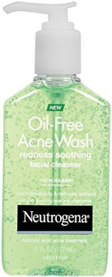 Neutrogena Oil Free Acne Wash Redness Soothing Facial Cleanser, 177ml