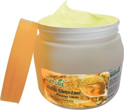 Nice Nature Haldi Chandan Massage Cream 450gm(450 g)  available at flipkart for Rs.219