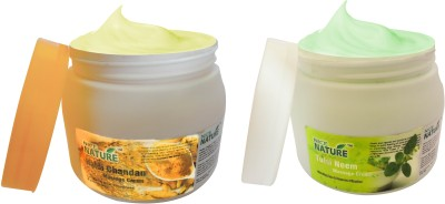 Nice Nature HALDI CHANDAN & TULSI NEEM MASSAGE CREAM COMBO PACK(900 g)  available at flipkart for Rs.415
