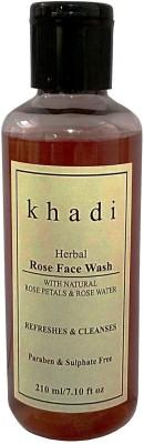 Khadi Herbal Rose Face Wash 210 g