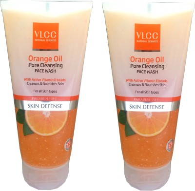 VLCC Orange Oil Pore Cleansing pack of 2 Face Wash(150 ml)