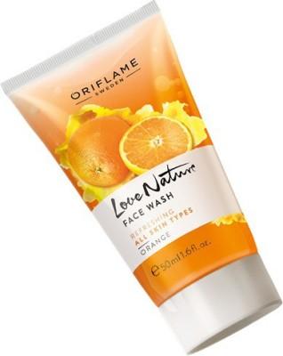 Oriflame Sweden LOVE NATURE ORANGE Face Wash(50 ml)  available at flipkart for Rs.139