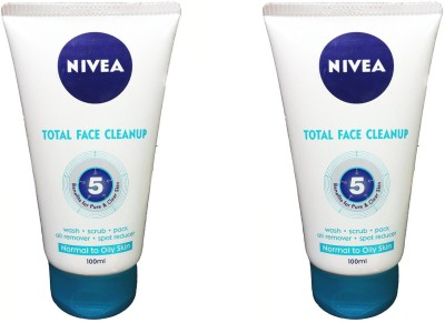 Nivea Total Face Cleanup Combo Face Wash(100 ml)