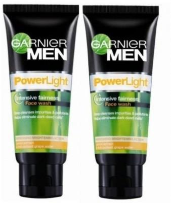 Garnier Men Power Light Intensive Fairness - (Pack of 2) Face Wash(200 g)  available at flipkart for Rs.360