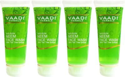 VAADI HERBALS Anti acne Neem with Tea Tree Extract   Pack of 4 Face Wash 60 ml VAADI HERBALS Face Wash