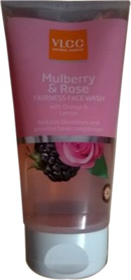 VLCC Mulberry & Rose Fairness  Face Wash(150 ml)  available at flipkart for Rs.132