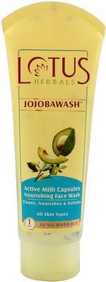 Lotus Jojobawash Active Milli Capsules Nourishing Face Wash(120 gm)  available at flipkart for Rs.199