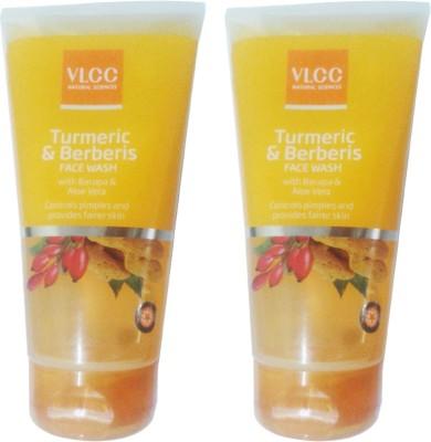 VLCC Turmeric & Berberis With Bacopa & Aloe Vera (Pack of 2) Face Wash(300 ml)