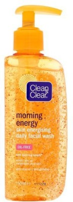 Clean & Clear Morning Energy Skin Energising Daily Facial Wash (Imported Made In Greece) Face Wash(151 ml)