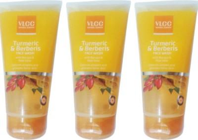 VLCC Turmeric & Berberis With Bacopa & Aloe Vera Face Wash Pack of 3 Face Wash(450 ml)