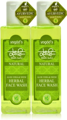 Vagad's Khadi Aloe Vera & Neem Herbal (100ml x 2) Face Wash(200 ml)  available at flipkart for Rs.209