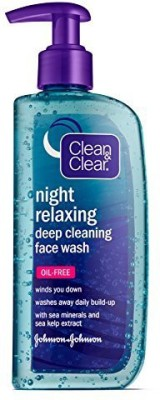 Clean and Clear Night Relaxing Deep Cleaning Face Wash Oil Free 235ml