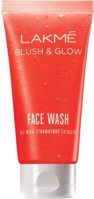 Lakme Blush & Glow Strawberry Gel Face Wash, 50ml