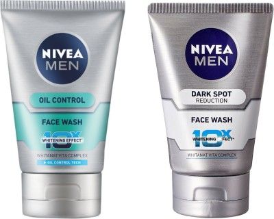 Nivea Oil Control Face Wash & Dark Spot Reduction Face Wash Pack Of 2 Face Wash(100 ml)