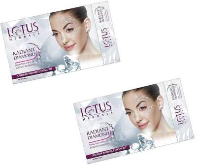 Lotus Radiant Diamond Cellular Radiance Facial Kit (( 37g*2 )) 74 g(Set of 2)  available at flipkart for Rs.509