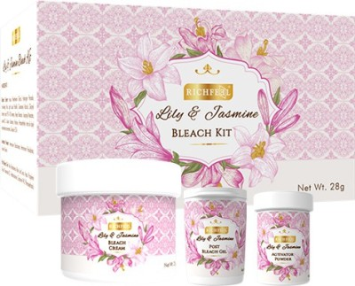Richfeel Lily And Jasmine Bleach Kit 28 g  available at flipkart for Rs.85
