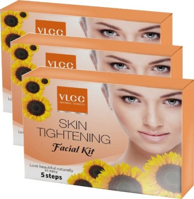 VLCC VLCC Skin Tightening Facial Kit Pack of 3(3 x 25 g)