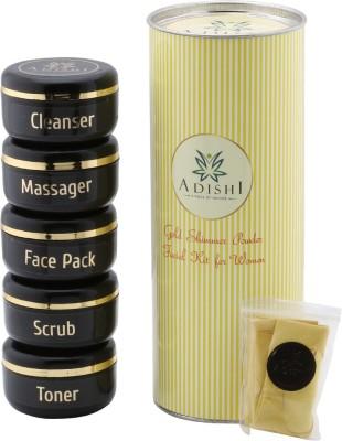 Adishi Gold Shimmer Powder Facial Kit For Women 300 g(Set of 6)  available at flipkart for Rs.499