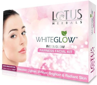 Lotus WhiteGlow InstaGlow Fairness Facial Kit (( 4* 10 g)) ((40g)) (Set of 1) 40 g(Set of 4)  available at flipkart for Rs.225