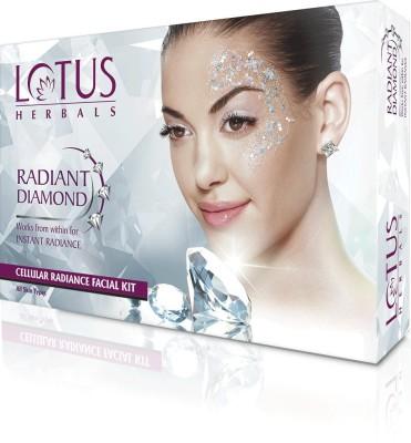 Lotus Radiant Diamond single Facial kit 37 g (4 sachets) 37 g(Set of 4)  available at flipkart for Rs.276