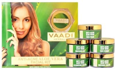 Vaadi Herbals Anti-acne Aloe Vera Facial Kit 270 g(Set of 5)  available at flipkart for Rs.700