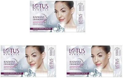 Lotus Radiant Diamond Cellular Radiance Facial Kit (( 37g*3 )) 111 g(Set of 3)  available at flipkart for Rs.759