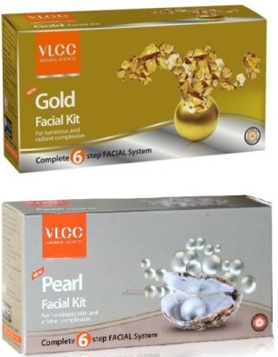 VLCC Gold Facial Kit And Pearl Facial Kit Combo