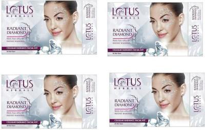 Lotus Radiant Diamond Cellular Radiance Facial Kit (( 37g*4 )) 148 g(Set of 4)  available at flipkart for Rs.939